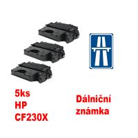 5ks kompatibilní toner HP CF230X MP print + dálniční známka