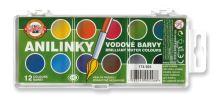 Brilantní vodové barvy anilinky 22,5mm 2