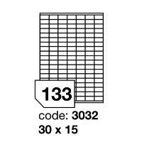 Samolepící etikety Rayfilm Synthetic 30x15 mm 100 archů, průhledné, R0400.3032A