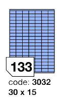 Samolepící etikety Rayfilm Office 30x15 mm 300 archů, matně modrá, R0123.3032D 1