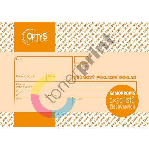 Příjmový doklad A6, samopropisovací, číslovaný, 2 x 50 listů, OP1081 1