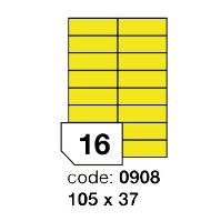 Samolepící etikety Rayfilm Office 105x37 mm žluté 100 archů, R0121.0908A