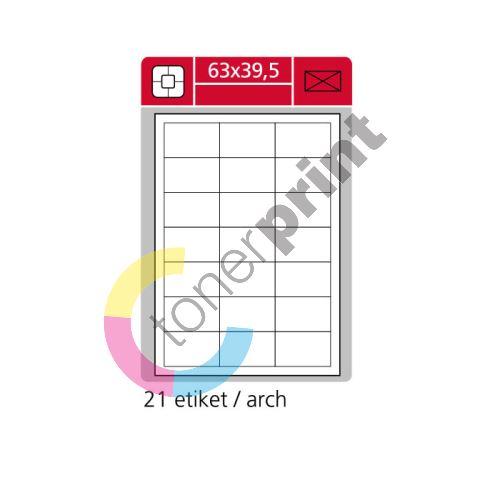 Samolepící etikety SK LABEL 63 x 39,5 mm 1