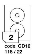 Samolepící etikety Rayfilm Office průměr 118/22 mm 100 archů R0100.CD12A