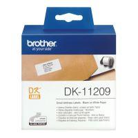 Štítky papírové Brother 29mm x 62mm, bílá, 800 ks, DK11209
