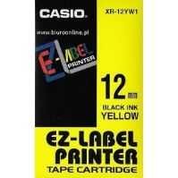 Páska Casio XR-12YW1 12mm černý tisk/žlutý podklad