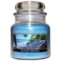Cheerful Candle Vonná svíčka ve skle Tropický Vánek - Island Breeze, 16oz