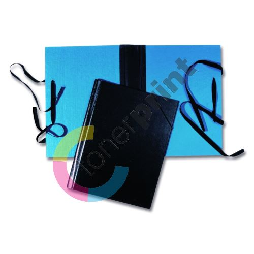 Spisová deska A4 hřbet, tkanice, modrá 1