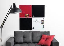 Skleněná magnetická tabule 40x60 cm – černá