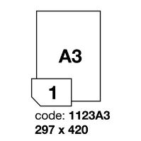Samolepící etikety Rayfilm A3 420 x 297 mm 100 archů, R0100.1123A31