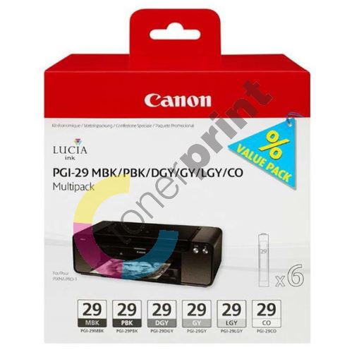 Cartridge Canon PGI-29, 4868B018, black, originál 1
