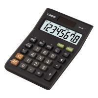 Casio kalkulačka MS 8 B, černá, stolní s výpočtem DPH, osmimístná