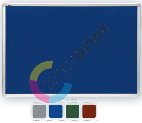 Filcová modrá tabule 90 x 120 cm, rám ALU, 2x3 1