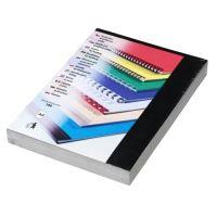 Kartónové desky pro zadní strany CHROMO, A4, 250 g, černá, 100 ks