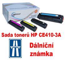 Sada tonerů HP CE410X-3A, CMYK, MP print + dálniční známka