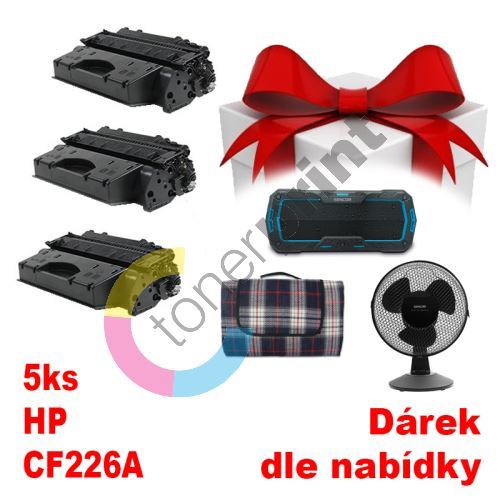 5ks kompatibilní toner HP CF226A MP print + dárek dle výběru 1
