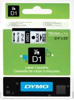 Páska Dymo D1 19mm x 7m, černý tisk/bílý podklad, 45803, S0720830
