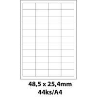Print etikety Emy 48,5x25,4 mm, 44ks/arch, 100 archů, samolepící