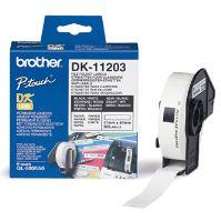 Štítky papírové Brother 17mm x 87mm, bílá, 300 ks, DK11203