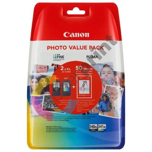 Cartridge Canon PG-540XL, CL-541XL + fotopapír, 5222B013, originál 1