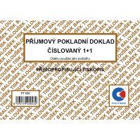 Příjmový pokladní doklad 1+1 číslovaný samopropis PT-022 / 50 listů jeden blok 1