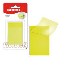 Samolepící bloček Kores 75x50mm, transparentní