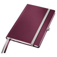 Zápisník Leitz STYLE A5, tvrdé desky, čtverečkovaný, granátově červený