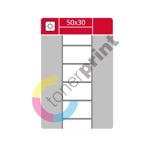 TTR etikety na kotouči 50x30mm, 3000 etiket role 1