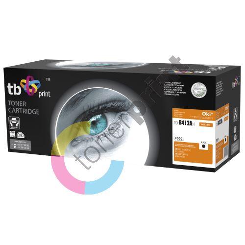 TB toner kompatibilní s OKI B412, B432, 45807102, Black, new 412AN 1