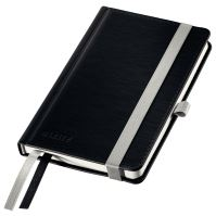 Zápisník Leitz STYLE A6, tvrdé desky, linkovaný, saténově černý