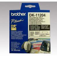 Štítky papírové Brother 17mm x 54mm, bílá, 400 ks, DK11204