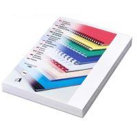 Kartónové desky pro zadní strany DELTA, A4, 230 g, bílá, 100 ks