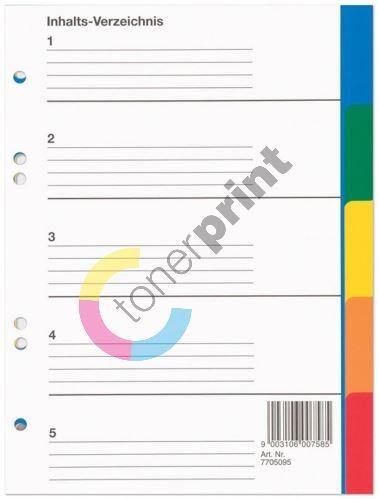 Rozdružovač Herlitz A5 5 barev