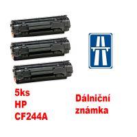 5ks kompatibilní toner HP CF244A MP print + dálniční známka