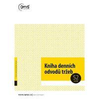 Kniha denních odvodů tržeb A4 sešit - 52 listů, OP1095