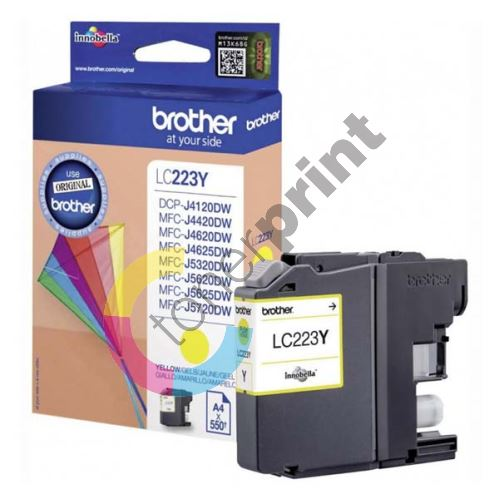 Cartridge Brother LC-223Y, yellow, originál