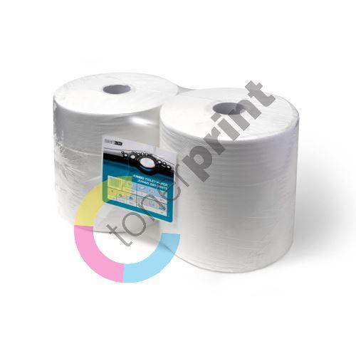 Papír toaletní v roli JUMBO šíře 265 mm recykl. 65% bílá, 2 vrstvy 1