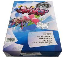 Papír kreslící karton A4 220g/200l