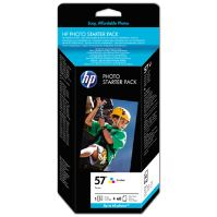 Cartridge HP C6657xx + 60 ks HP Photo Paper 10 x 15 cm, Q7942AE, originál