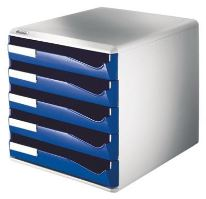Zásuvkový box Leitz 5 zásuvek, modrý