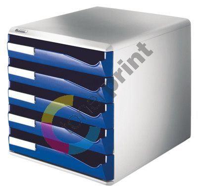 Zásuvkový box Leitz 5 zásuvek, modrý 1
