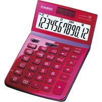 Kalkulačka Casio JW 200 TV, červená, stolní, dvanáctimístná
