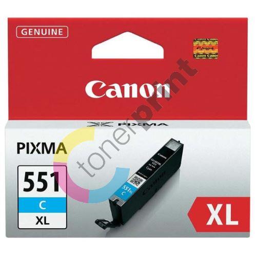 Cartridge Canon CLI-551C XL, cyan, 6444B001, originál 1