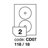 Samolepící etikety Rayfilm Office průměr 118/18 mm 100 archů R0100.CD07A
