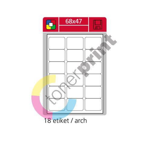 Samolepící etikety SK LABEL 68 x 47 mm, žluté 1