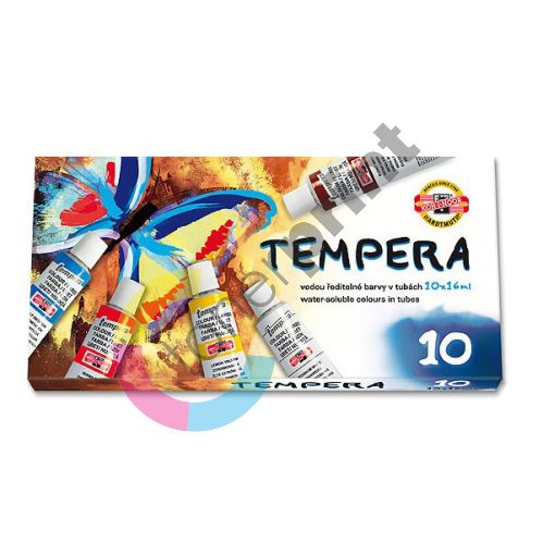 Temperové barvy, vodou ředitelné barvy v tubách 10 x 16 ml 1