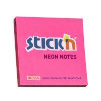 Samolepící bločky Stick'n 76x76mm, růžové neon, 100 lístků