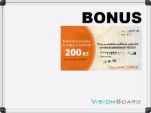 Magnetická bílá tabule 90 x 120 cm Vision Board + kupón Tesco 200 Kč