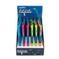 Spoko kuličkové pero Aqua, modrá náplň, mix barev (36ks) 2