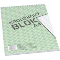 Bobo kroužkový blok A4, horní spirála 50 listů, čtvereček 1